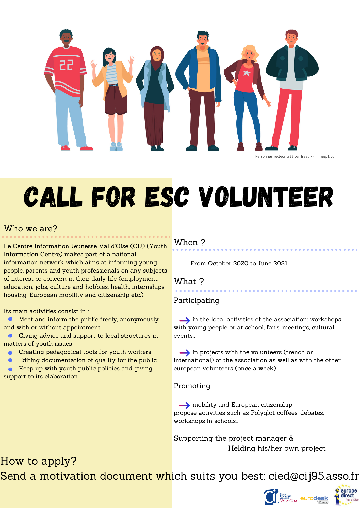 Call for volunteers vfinale